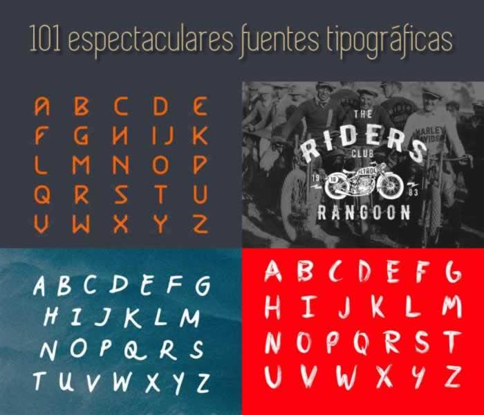 Las 101 fuentes tipográficas más espectaculares de 2015