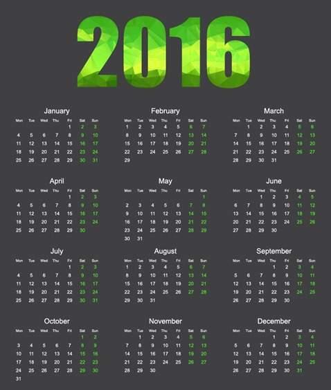 calendario-2016-fondo-negro