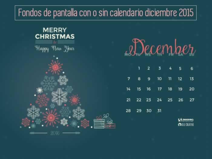 Fondos de pantalla con o sin el calendario del mes de diciembre de 2015