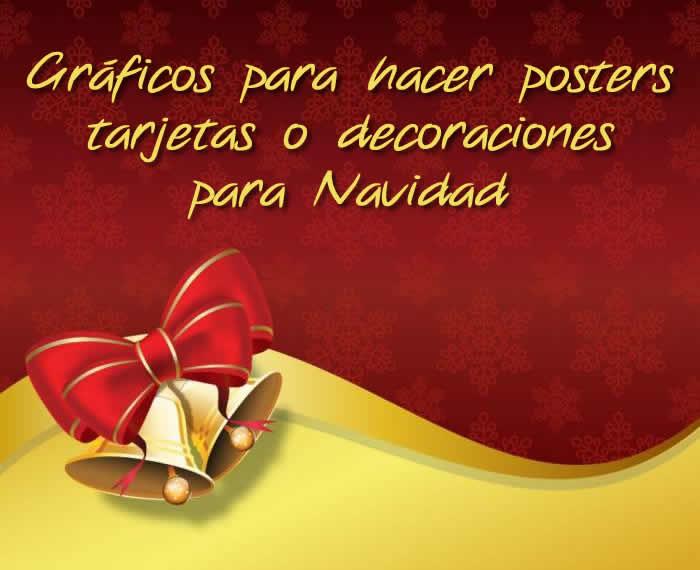 Posters, tarjetas, invitaciones y otros recursos gráficos para Navidad