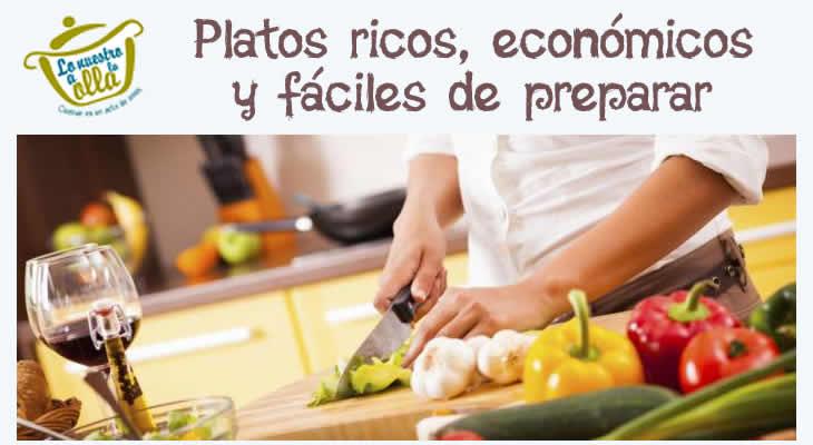 Recetas Ricas, Económicas y Fáciles de preparar