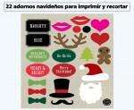 22 adornos navideños gratuitos para imprimir y recortar