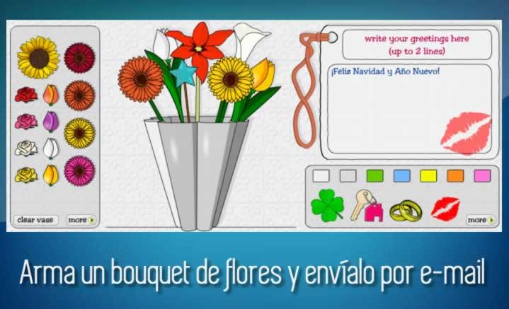 Arma un bouquet de flores y envíalo por e-mail