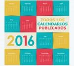 Todos los calendarios 2016 publicados