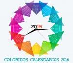 Coloridos calendarios 2016 editables y listos para imprimir