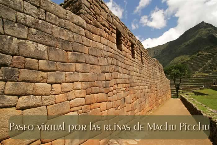 Paseo virtual por las ruinas de Machu Picchu en Perú