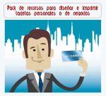 Pack de recursos para diseñar e imprimir tarjetas personales o de negocios