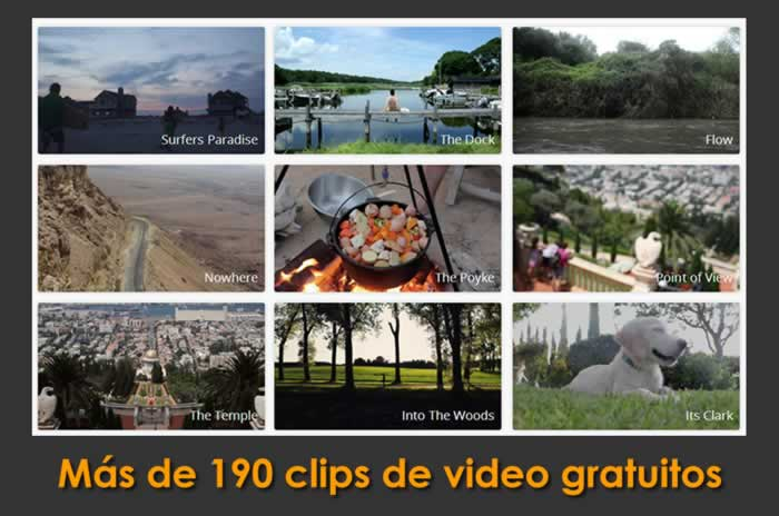 Más de 190 clips de video gratuitos