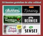 50 fuentes tipográficas gratuitas de muy alta calidad