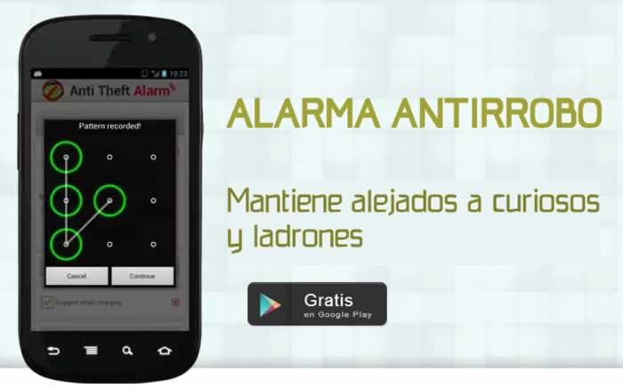 Alarma antirrobo para teléfonos con Android
