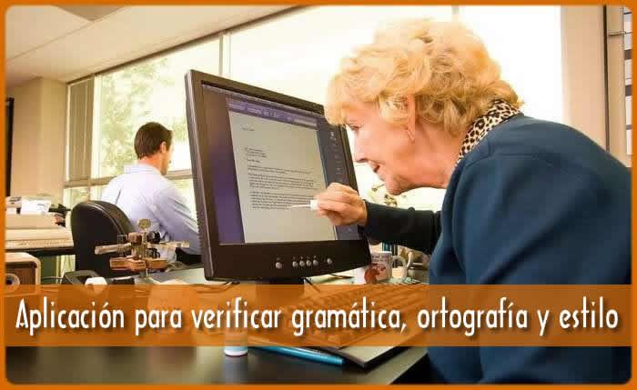 Aplicación para verificar gramática, ortografía y estilo