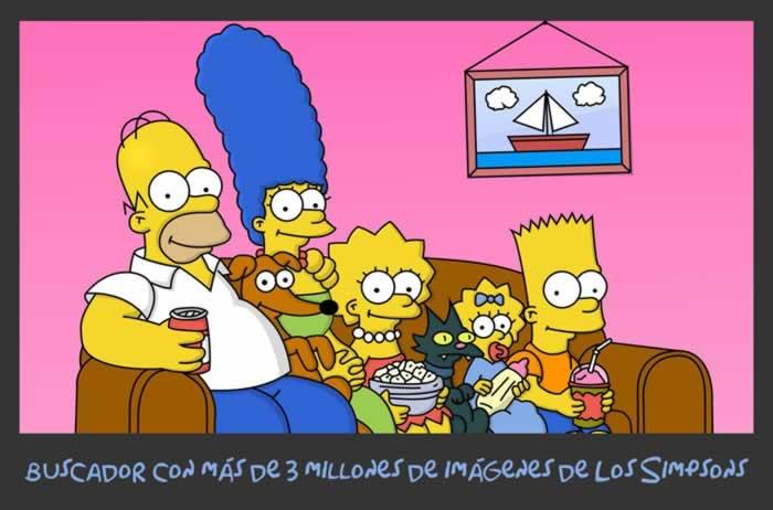 Buscador con más de 3 millones de imágenes de Los Simpsons