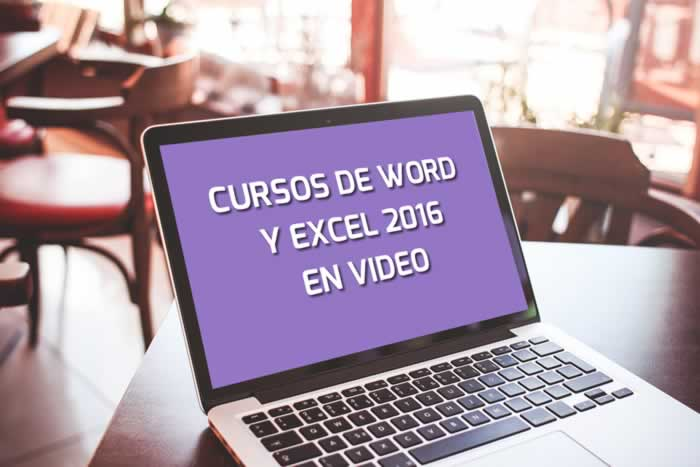 Cursos de Word y Excel 2016 en video