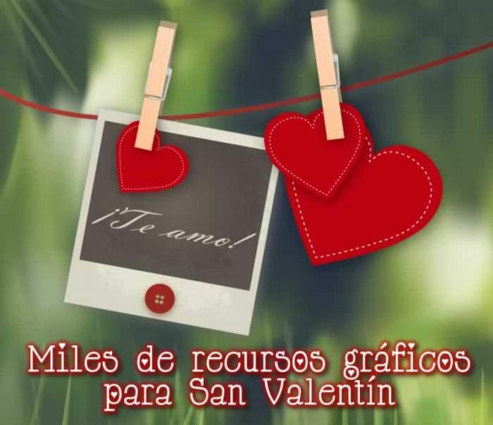 Miles de recursos gráficos para San Valentín