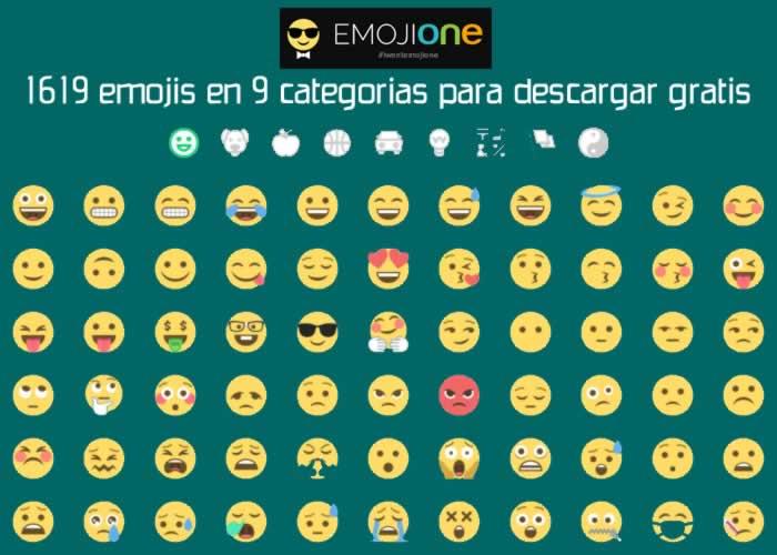 1619 emojis en 9 categorías para descargar gratis