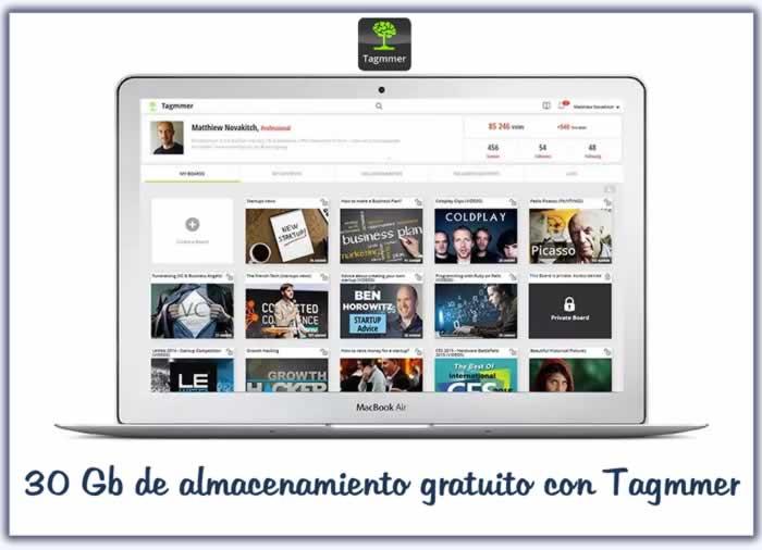 30 Gb de almacenamiento gratuito con Tagmmer