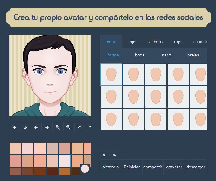 Crea tu propio avatar y compártelo en las redes sociales