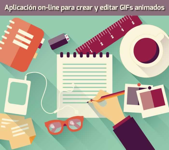 Aplicación on-line para crear y editar GIFs animados y editar imágenes