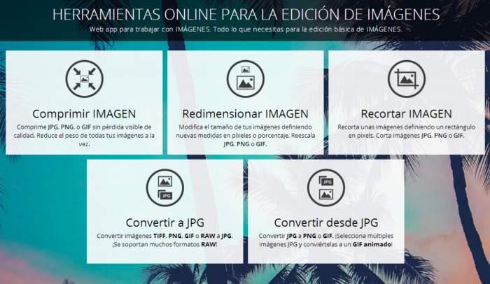 5 Herramientas para la edición básica de imágenes on-line