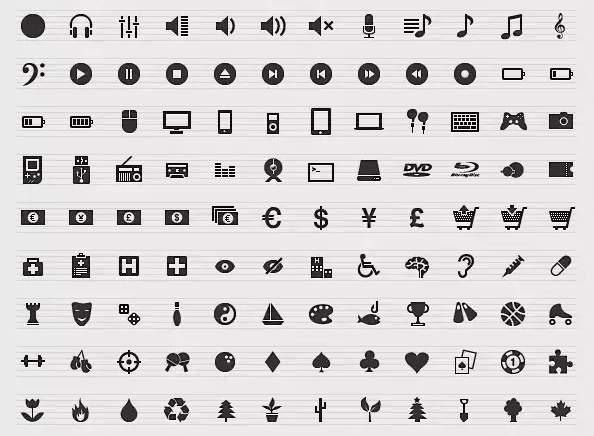 Pack con 516 iconos web