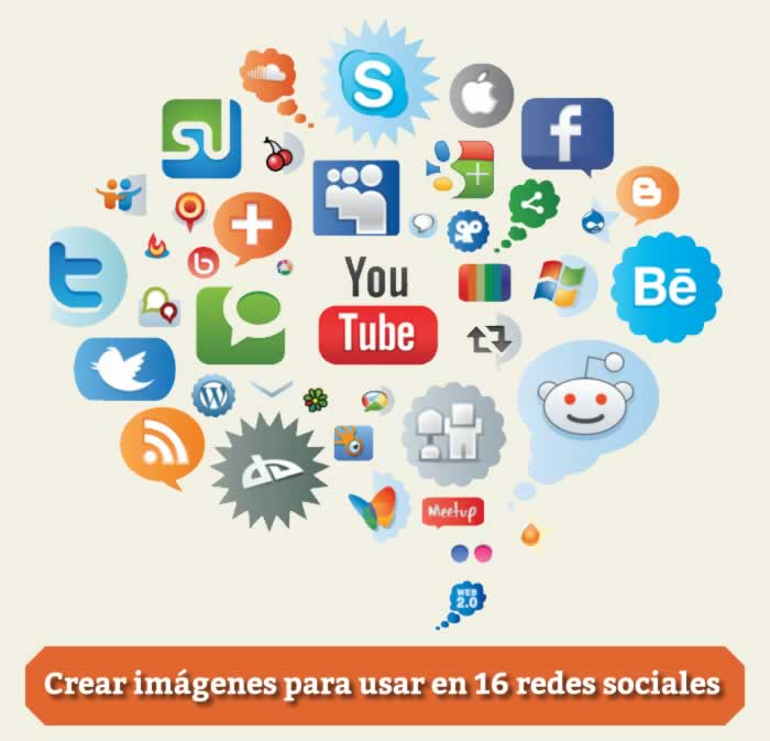 Completa aplicación para crear imágenes y usarlas en 16 redes sociales