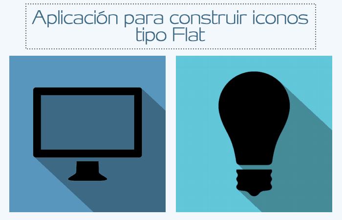 Aplicación para construir coloridos iconos Flat