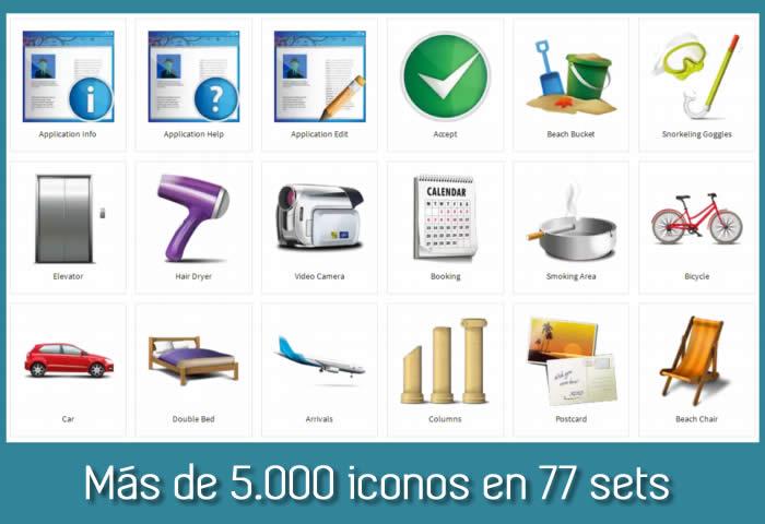 Dryicons. Más de 5000 iconos en 77 sets, gratis