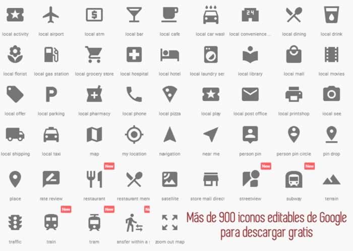 Más de 900 iconos Google Material Design para descargar gratis