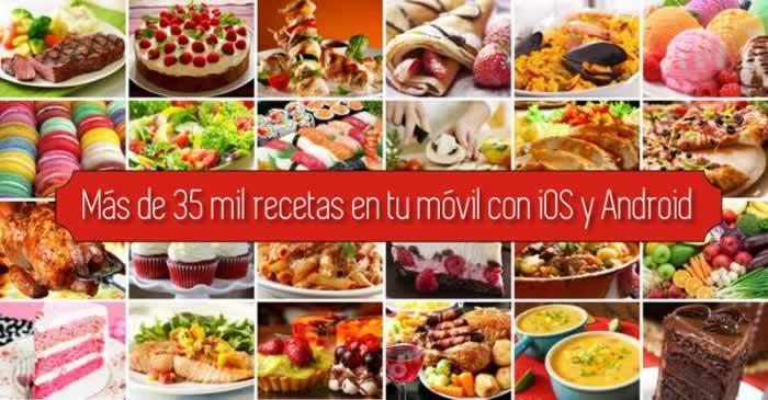 Más de 35 mil recetas en tu móvil con iOS y Android