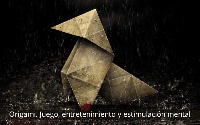 Origami, juego, entretenimiento y estimulación mental