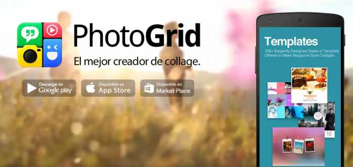 Photogrid. Crea atractivos collages desde tu móvil