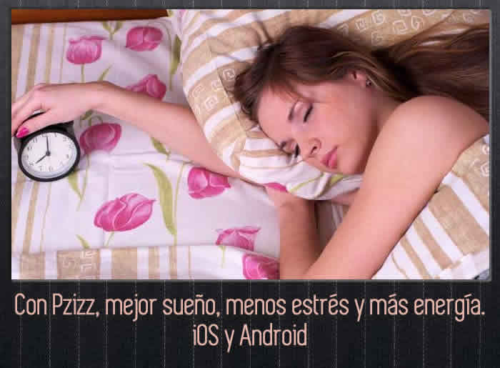 Con Pzizz, mejor sueño, menos estrés y más energía. iOS y Android