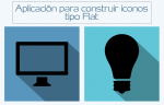 Aplicación on-line para construir coloridos iconos Flat