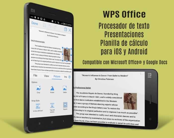 WPS. La suite ofimática más popular para iOS y Android