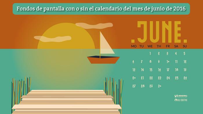 Fondos de pantalla con o sin el calendario del mes de junio de 2016