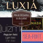 Más recursos gráficos gratuitos. Iconos y fuentes tipográficas
