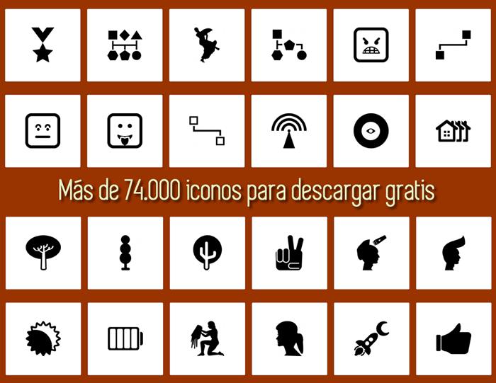 Más de 74.000 iconos en varios formatos para descargar gratis