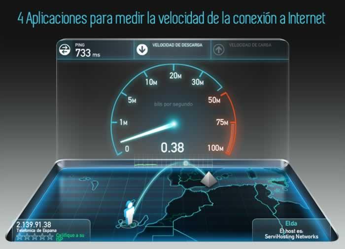4 Aplicaciones para medir al velocidad de conexión a Internet