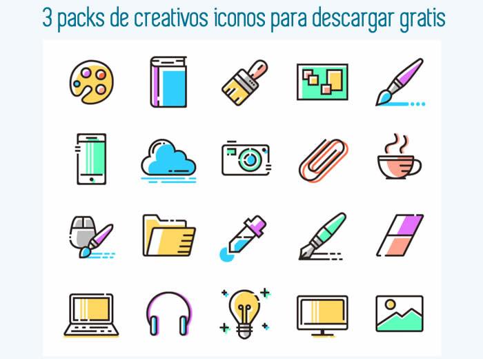3 packs de creativos iconos para descargar gratis