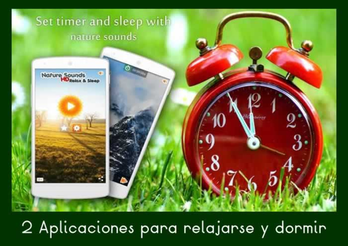 2 aplicaciones para relajarse y dormir