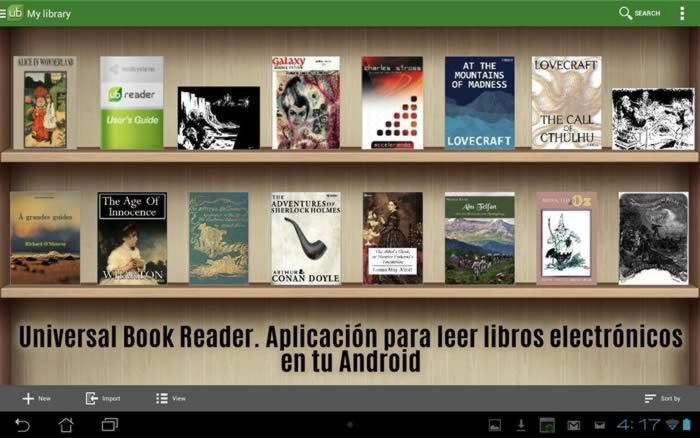 Universal Book Reader. Aplicación para leer libros electrónicos en tu Android