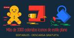 Más de 1000 coloridos iconos planos, editables y para descarga gratuita