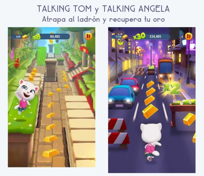 Talking Tom y Talking Ángela, juega y recupera tu oro