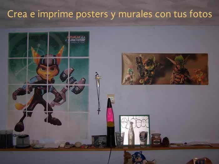 Crea e imprime posters y murales con tus fotos