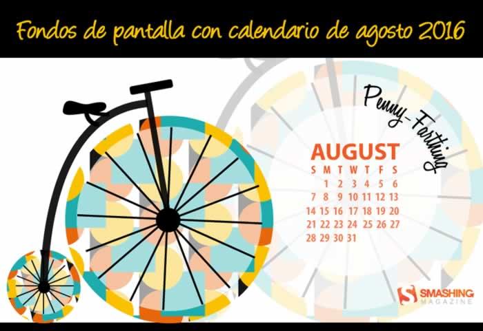 Fondos de pantalla con o sin el calendario del mes de agosto de 2016