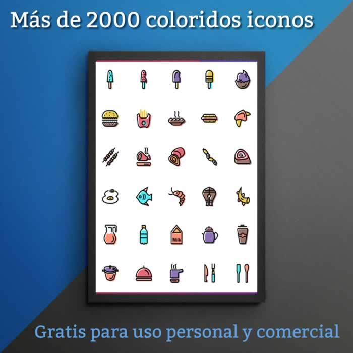 Más de 2000 coloridos iconos para descargar gratuitamente