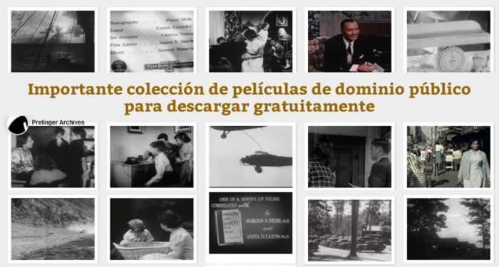 Importante colección de películas de dominio público para descargar gratuitamente