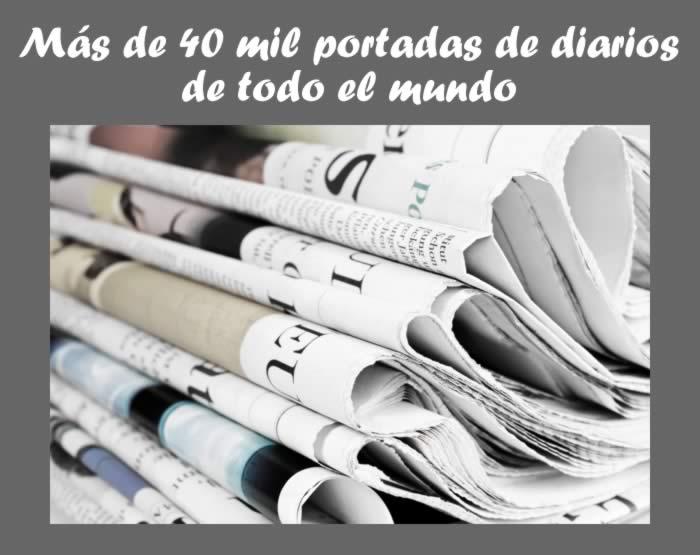 Más de 49 Mil portadas de diarios de todo el mundo