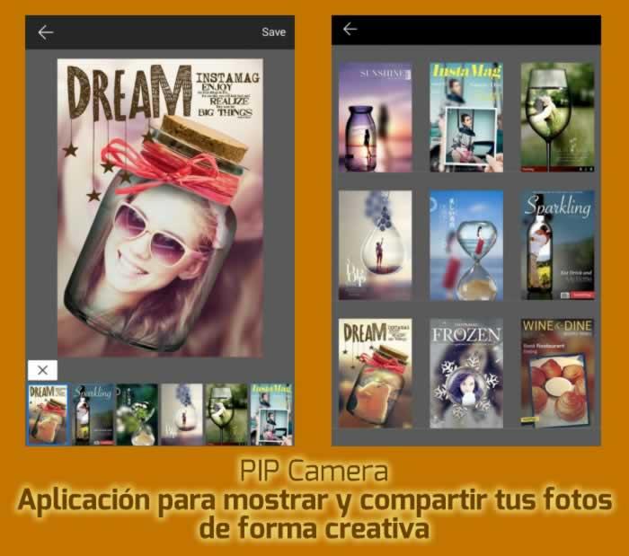 PIP Cámara, una aplicación para mostrar y compartir tus fotos de forma creativa