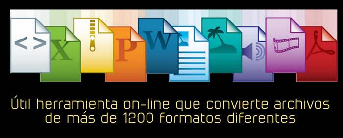 Útil herramienta on-line que convierte archivos de más de 1200 formatos
